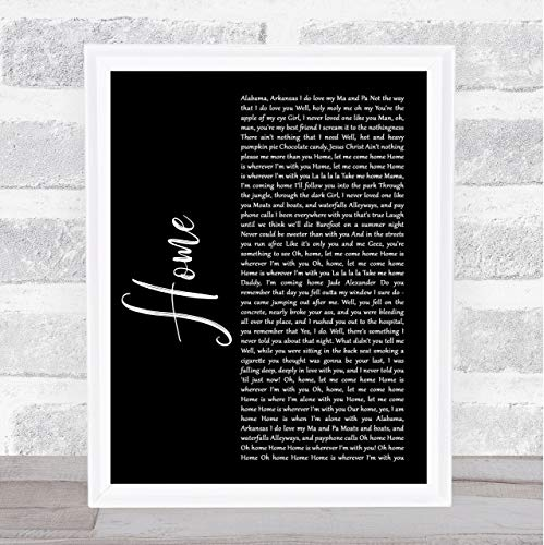 SOBRIBOLAO #Edward #Sharpe #and #The Magnetic Zeros Home Black Script Song Lyric Music Poster Wall Art Home Decor Gifts for Lovers Painting