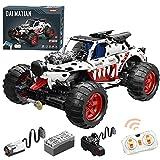 WWEI Juego de construcción de camión de ingeniería, 2,4 GHz/aplicación RC Monster Truck con motor, 987 piezas, juguete compatible con Lego Technic