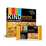 KIND Healthy Grains Bars, Oats & Honey with Toasted Coconut, Gluten Free, 1.2 oz, 5 Count (6 Pack)
