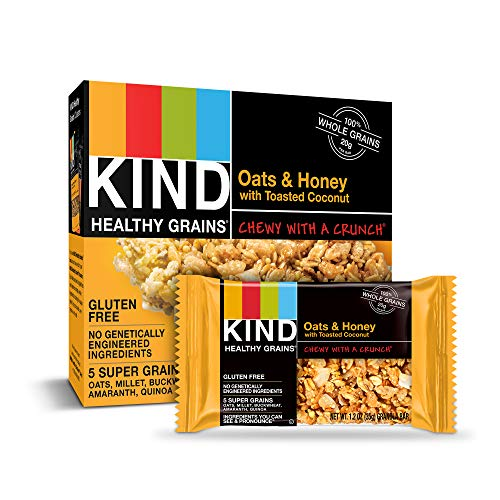 KIND Healthy Grains Bars Oats amp Honey with Toasted Coconut Gluten Free 12 Ounce 40 Count