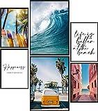 Papierschmiede Poster Set Surfing | 6 Bilder als stilvolle