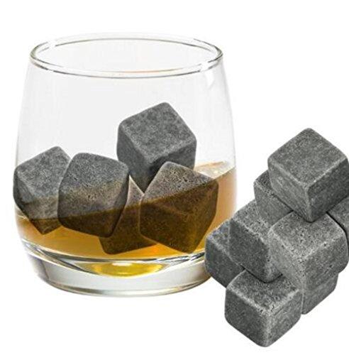 Demarkt Whisky Steine 9 Stück Natürlichen Speckstein Wiederverwendbare Eiswürfel Whiskysteine Speckstein Kühlsteine