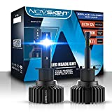 Novsight H1 LED Headlight Bulbs 50W 10000LM Bright Cool White SEOUL-CSP Chips All-in-One Conversion Kit 2 Yr Warranty