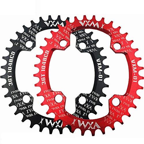 Schmales breites Kettenblatt 32T 34T 36T 38T Fahrrad rund / oval Kettenblatt 104BCD Kettenblatt schmales breites Kettenblatt für Rennrad, Mountainbike, BMX MTB Fahrrad Rennrad, Mountainbike, BMX MTB