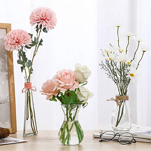 花瓶 北欧 ガラス 花器 高級感 フラワーベース ガラスベース 3つセット ガラスボトル アレンジ インテリア 水栽培 生け花 造花 おしゃれ シンプル インテリア雑貨 飾り瓶 北欧 レトロ風