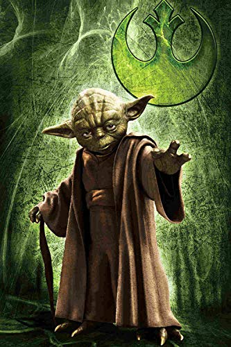Mutuco Puzzle 1000 Piezas,Póster Star Wars The Mandalorian: Yoda,Puzzle Creativo,Puzzle 1000 Piezas Adultos,Rompecabezas Puzzle Adultos,Puzzle Grandes Adultos