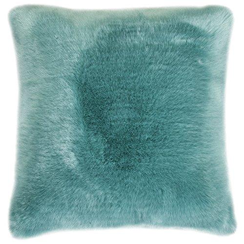 pad - Kissenhülle - Kissenbezug - Sheridan - Kunstfell - Aqua/blau - 45 x 45 cm