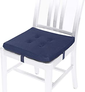 baibu Square Stool Cushions with Ties, Breathable Square Chair Pads Seat Cushions with Anti-Slip Mat for Metal Folding Cha...