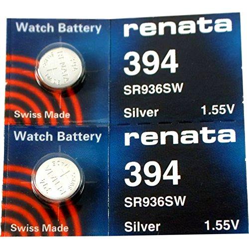 Renata, pilas de reloj # 394. 2 unidades.
