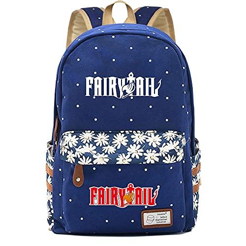 SHU-B Mochila para Chicas, Fairy Tail Moda Impreso Universidad Bolsas Estudiante Escuela Mochila Laptop Viajes Bolsa Daypack