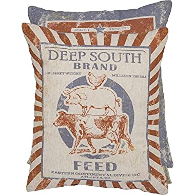 Primitives By Kathy Deep South Brand Feed Pillow 14  x 17