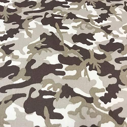 Baumwollstoff, Camouflage-Stoff, braun, Stoffe als Meterware, 1 m x 140 cm, 100 {bab8e5dbd38ea5afa780189f2ed7b9ae39267d2f72664bf0eecdaa8f7bfe3970} Baumwoll-Popeline, Textil-Pertex