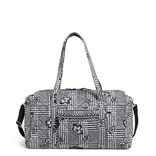 Vera Bradley Women's Performance Twill Large Travel Duffle Bag, Bedford Plaid, One Size