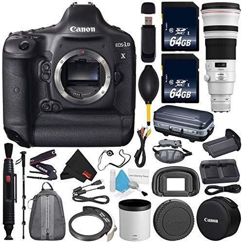 Canon 6Ave EOS-1D X DSLR Camera International Version (No Warranty) EF 500mm f/4L is II USM Lens + Battery Grip + LP-E6N Replacement Lithium Ion Battery Bundle