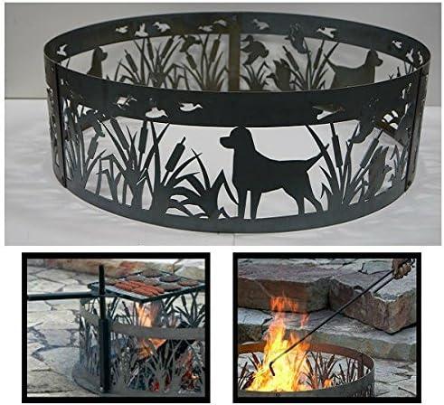 Classic PD Ultra-Cheap Deals Metals Steel Campfire Fire Ring Ducks - Lab Unpaint Design N'