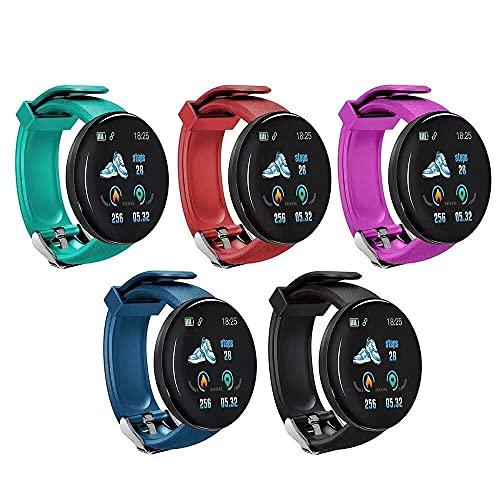 huanglianglanshangmao Pulsera Inteligente Reloj Bluetooth Pantalla a Color podómetro Deportivo sueño frecuencia cardíaca presión Arterial monitoreo de oxígeno en Sangre (Color : 2)