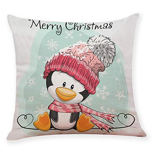 ABsoar Kissenbezuge Weihnachten Kissenhülle Dekokissen Fall Throw Pillow Covers Bettwäsche Für Autos Sofakissen Startseite Dekorative Weihnachten Baumwolle Leinen Sofa Home Taille Kissenbezug