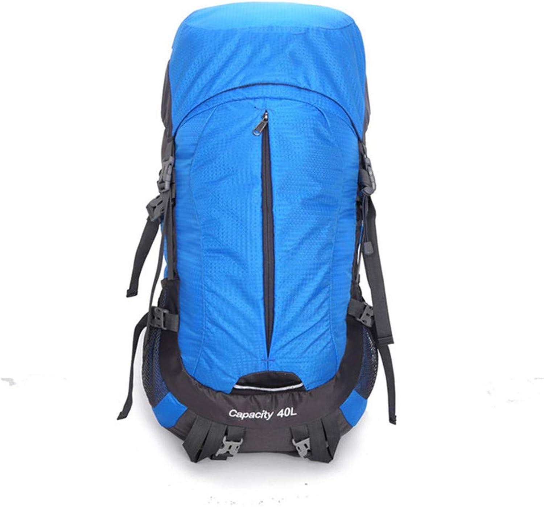 WG Outdoor Camping Rucksack mit groem Fassungsvermgen 50 Liter Taktische Tasche, leichtes und langlebiges Outdoor-Feldpaket60,0 cm  30,0 cm  5,0 cm,SkyBlau