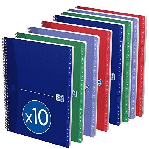 Oxford Essentials - Pack de 10 índices alfabéticos doble espiral, A5