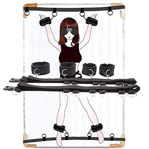 Sex Bandage Fessel Kit Bett Fesseln Für Sexspiel, Fesseln Gesetzt Mit Knöchelmanschette Und Handschellen Am Handgelenk Paar Spielset