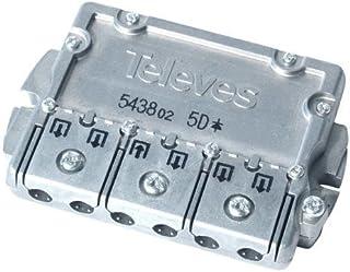 Repartidor Distribuidor 5 direcciones 10/9.5 dB, Cablepelado
