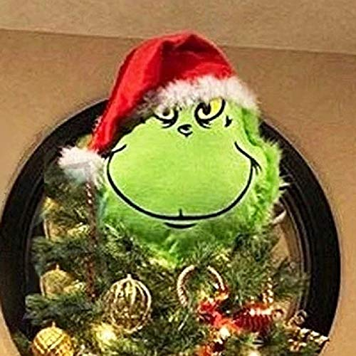 Rxan Furry Green Arm(Head) Ornament Holder for The Christmas Tree for Christmas Home Party