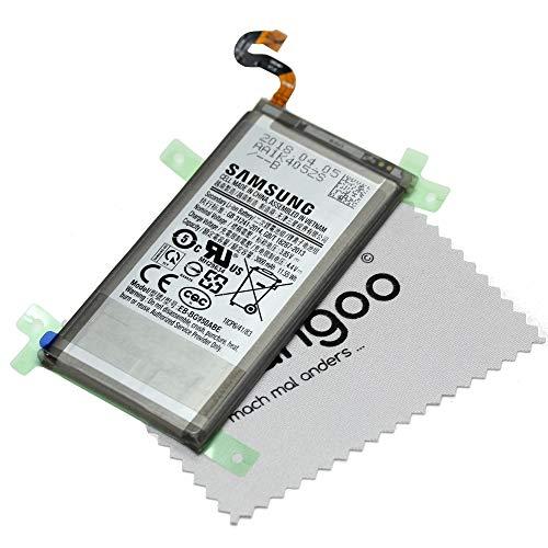 Mungoo - Batteria originale per Samsung Galaxy S8 G950F, con panno per la pulizia dello schermo