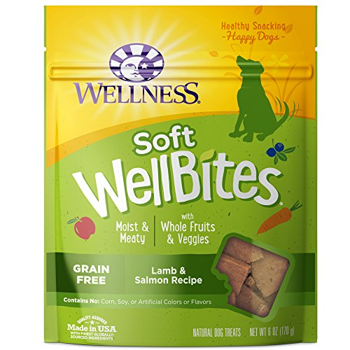 Wellness WellBites Grain-Free Lamb & Salmon Recipe Soft & Chewy Dog Treats, 6 Ounce Bag