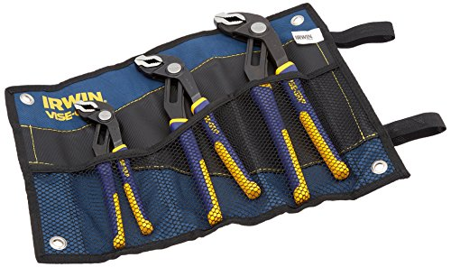 IRWIN Tools VISE-GRIP GrooveLock Pliers Set, 3-Piece with Kit Bag (2078711)