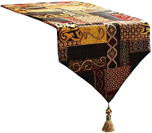Artbisons Table Runner Gold Illusion 72x13 Thickly Fashion Handmade Tablerunner product image