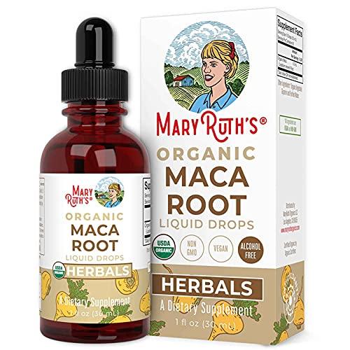 USDA Organic Maca Root by MaryRuth's   Herbal Liquid Drops   Endurance, Mood, Overall Health   Non-GMO, Vegan, Alcohol Free Tincture,   1 oz, 60 Servings