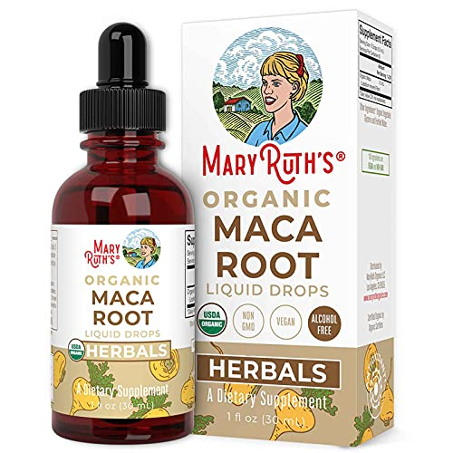 USDA Organic Maca Root by MaryRuth's | Herbal Liquid Drops | Endurance, Mood, Overall Health | Non-GMO, Vegan, Alcohol Free Tincture, | 1 oz, 60 Servings
