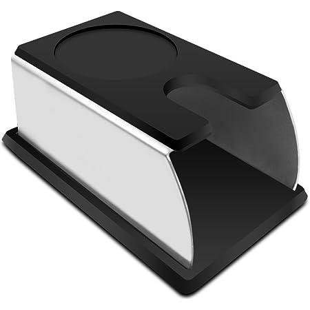 Negro Estera de silicona para manipulaci/ón de caf/é Espresso Tamping Holder Mat