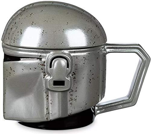 Disney Parks - Taza de café con tapa (cerámica), diseño de casco mandaloriano