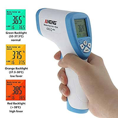 Amrka Infrared Thermometer Gun Forehead Digital LCD Baby No Touch IR Infrared Temperature Meter