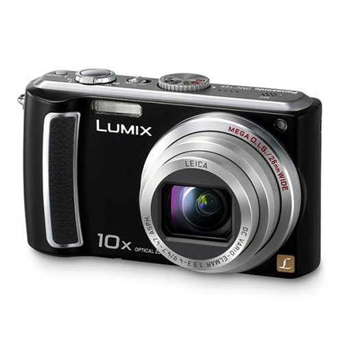 Panasonic DMC-TZ5-K Digitalkamera (9 Megapixel, 10-fach opt. Zoom, 7,6 cm (3 Zoll) Display, Bildstabilisator) tiefschwarz