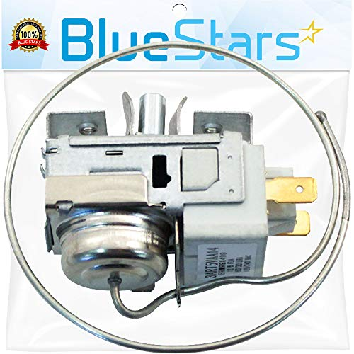 Ultra Durable WR9X499 Refrigerator Temperature Control Thermostat DIRECT Replacement for OEM Part by Blue Stars – Exact Fit For GE & Hotpoint Refrigerators - Replaces AP2061705, WR09X0499