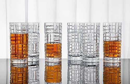 Highball Glasses Tall Bar Glass Set - Drink Glassware for Wine, Whiskey, Water, Juice, Beer and Cocktails - 11oz, Set of 6