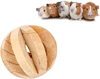 Licogel Hamster Ball Toy Wooden Bell Design Mini Decorative Universal Natural Hamster Playing Toy Hamster Chewing Toy Funn...