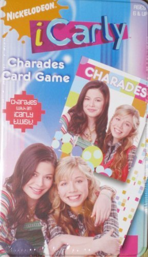 Cardinal Games Icarly Charades card Game in Collector Tin case