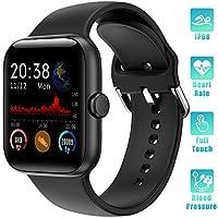 ✿【Smartwatch completo touch da 1,54 pollici】Il nostro Smartwatch ha uno schermo a colori HD TFT completo touch da 1,54 pollici con un'eccellente qualità HD e un funzionamento fluido del touch schermo per una migliore esperienza utente. Scegli tra 5 q...