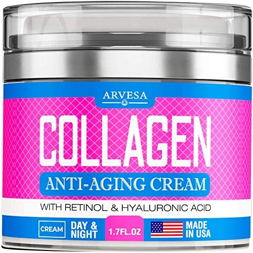 Collagen Cream Anti Aging Face Moisturizer Day Night Wrinkle Cream Boosted with Hyaluronic Acid product image