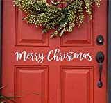 "US Wall Decals Christmas Door Decal, Merry Christmas Door Decal, Merry Christmas Wall Decal 2"" x 10"""