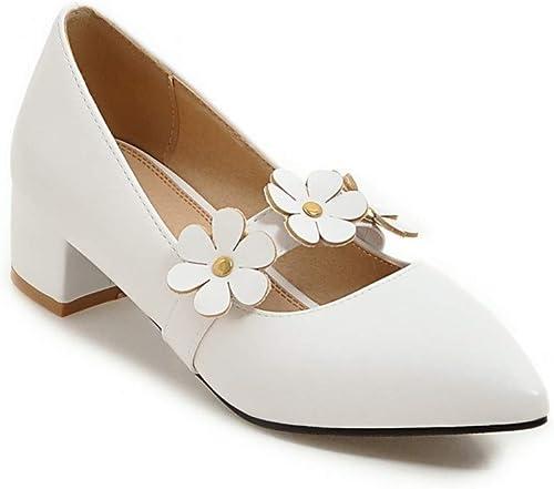 VIVIOO Mary Janes Chaussures Femmes Pompes Pompes Pompes Simples Chaussures Peu Profondes Grande Taille 34-47 Talons Hauts Chaussures 4.5cm élégant 5f8