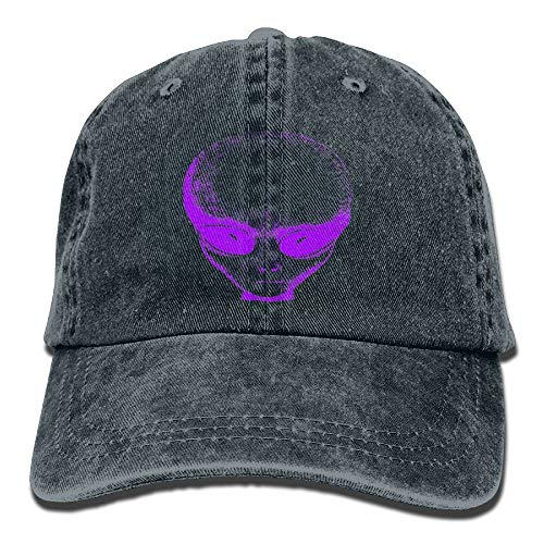 Preisvergleich Produktbild KKAIYA Purple Alien Denim Hat Adjustable Male Low Baseball Cap