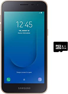 "Samsung Galaxy J2 Core (8GB) 5.0"", Android 8.0, GSM Factory Unlocked US + Global 4G LTE International Version J260M (Gold, Dual SIM + 32GB SD Bundle)"