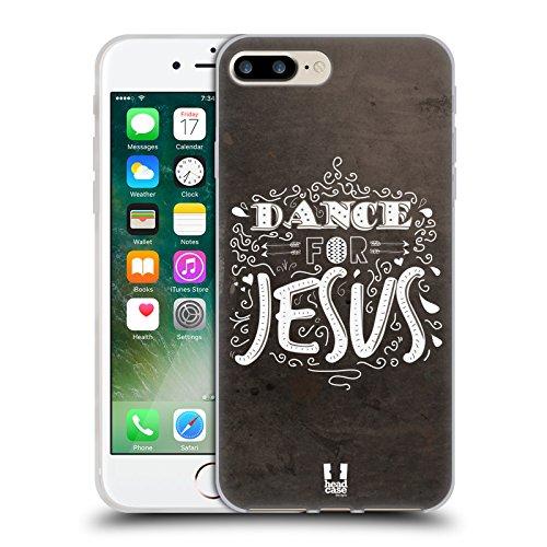 Head Case Designs Dance for Jesus Tutto su Dio Cover in Morbido Gel e Sfondo di Design Abbinato Compatibile con Apple iPhone 7 Plus/iPhone 8 Plus