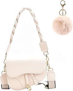 Umhängetasche Damen kleine,Retro Saddle Bag mit 2 Schultergurte,Crossbody Bag Damen,Frau Vintage Shoulder Crossbody Handta...