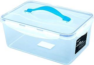 SHENRQIA Trousse De Premiers Soins, Boîte De Rangement des Médicaments, Transparent,avec Poignée,Cas d'urgence Familial