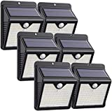 Solar Lights Outdoor [6 Pack] 150 LED iPosible Solar Motion Sensor Security Lights Solar Powered Lights Waterproof 2000mAh Solar Wall Lights Outside for Garden Fence Door Yard Garage Pathway